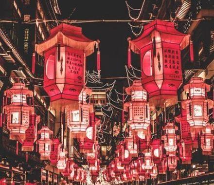 Chinese Lanterns Red