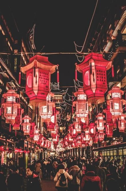 Chinese Lanterns Red