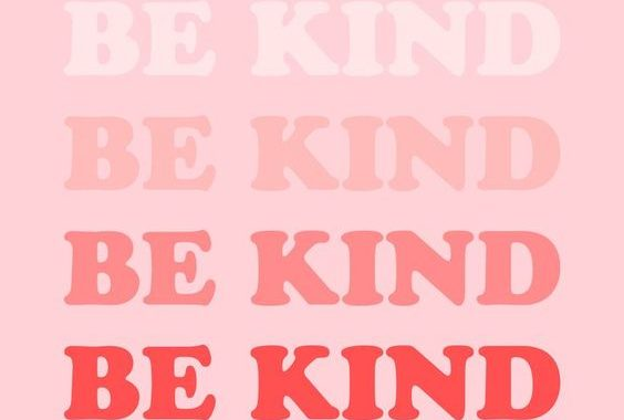 Be kind white to red bubble text