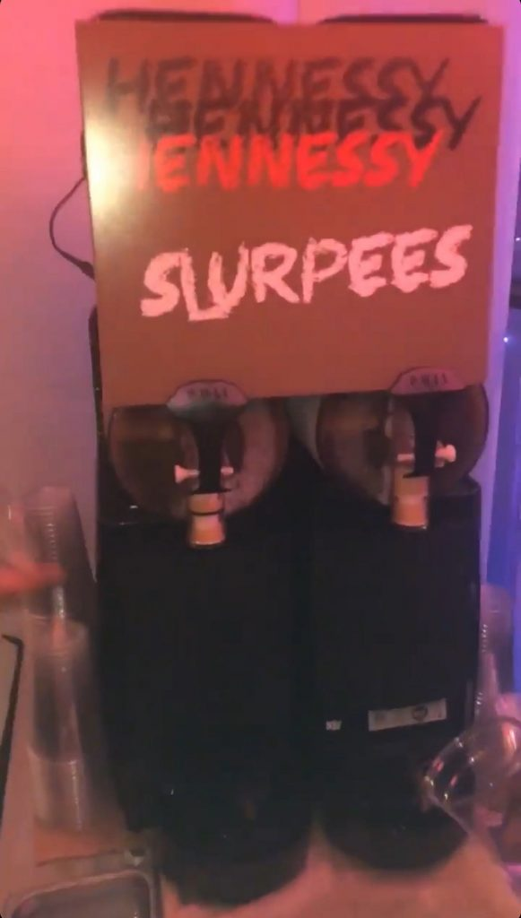 Hennessy Slurpees for Travis Scott's party