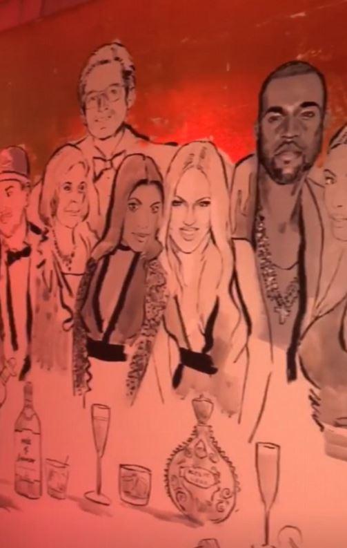 Kardashian Jenner Family Mural