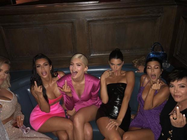Kardashian Jenner Sisters posing