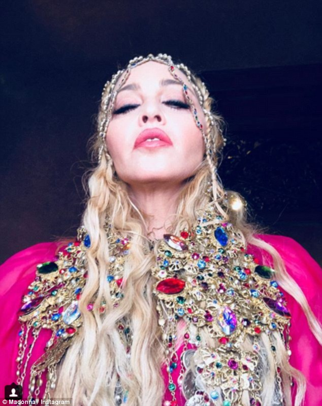 Madonna in coin headpiece