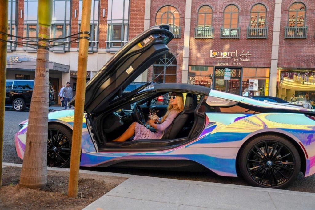 Paris Hilton in Custom BMW 2