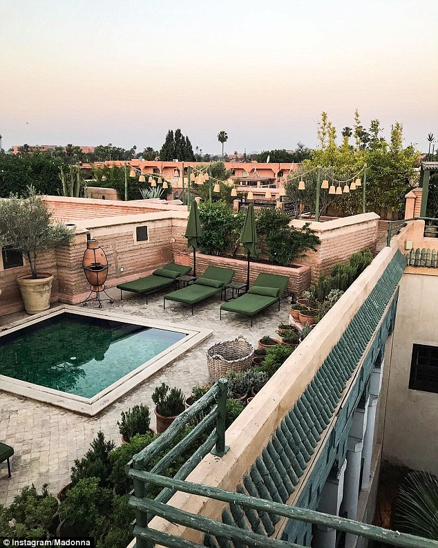 Rooftop of Moroccan Mansion