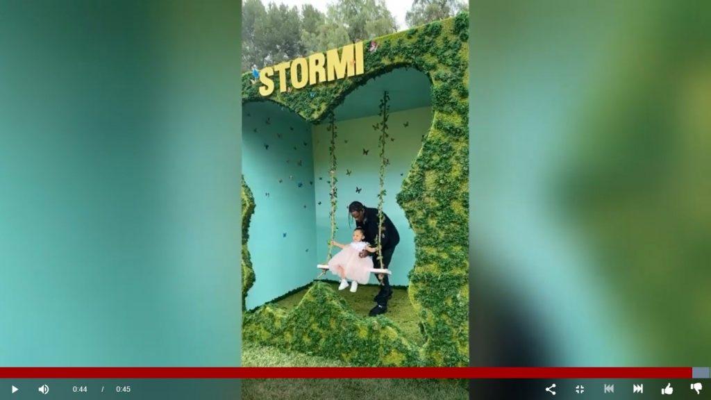 Stormi's Butterfly swing with Travis Scott