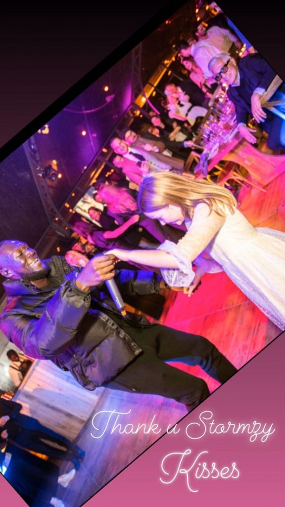 Stormzy and Harper Beckham dancing