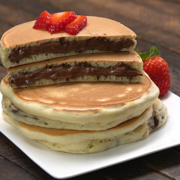 Nutella Recipe. Nutella and Pancake.