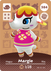 Margie Amiibo card Animal Crossing New Horizons
