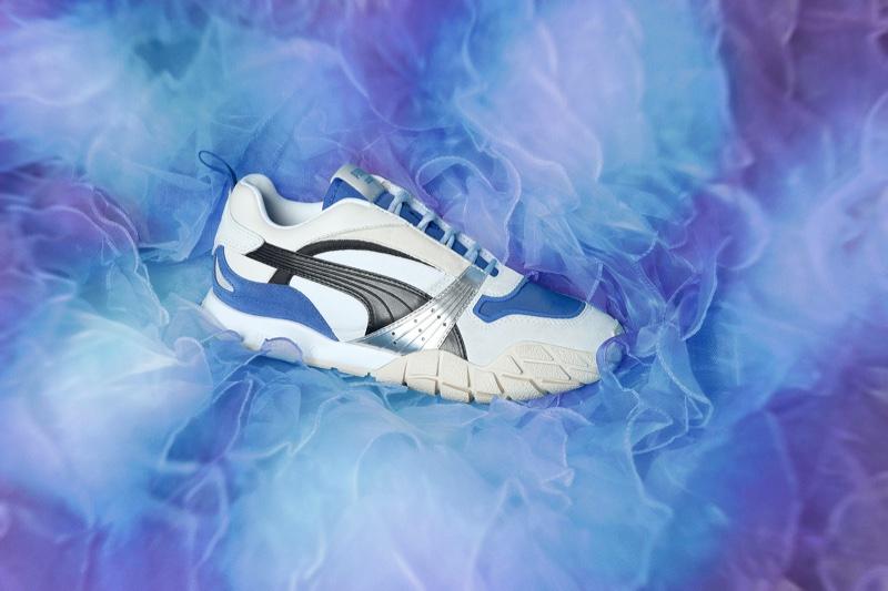 PUMA's Kyron Awakening sneaker in white/dazzling blue colourway