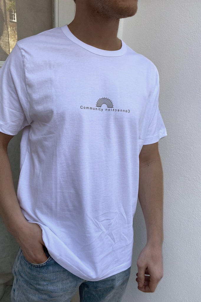 French Connection men's Community Connection charity tee
