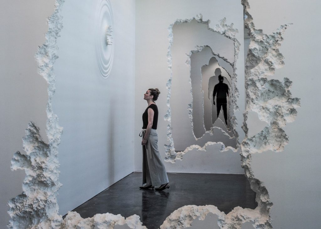 The Future was Then by Daniel Arsham - showing architectual art side