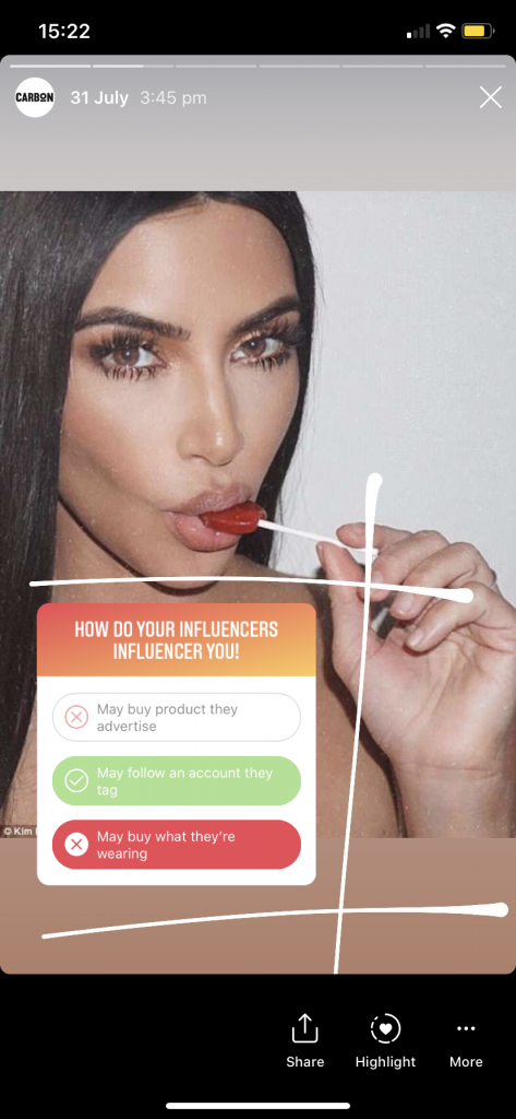 Kim Kardashian diet lollypop ad, How do influencers influence you?