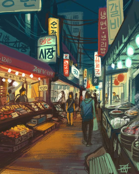 Night market scene, Chinese traditions we could apply to everyday life