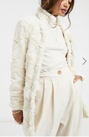 Illustration inspo image ASOS faux fur jacket
