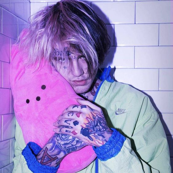 Lil Peep with teddy