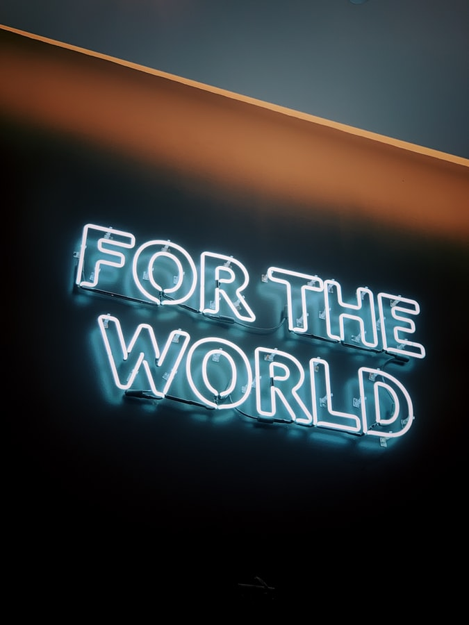 Neon image, for the world