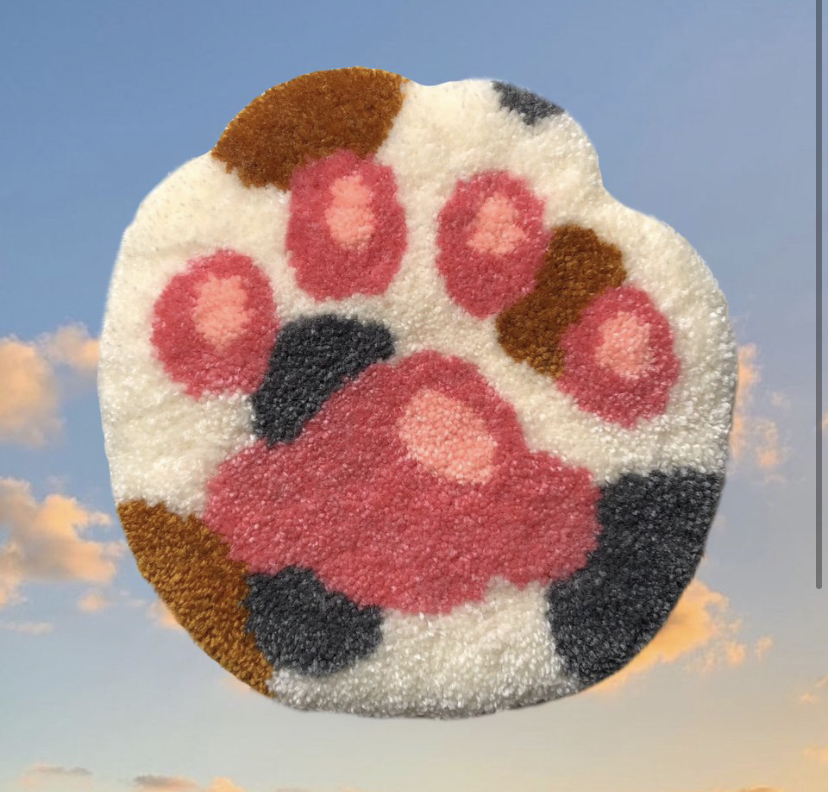 Mylky Clouds Rugs Cat paw punch needle rug