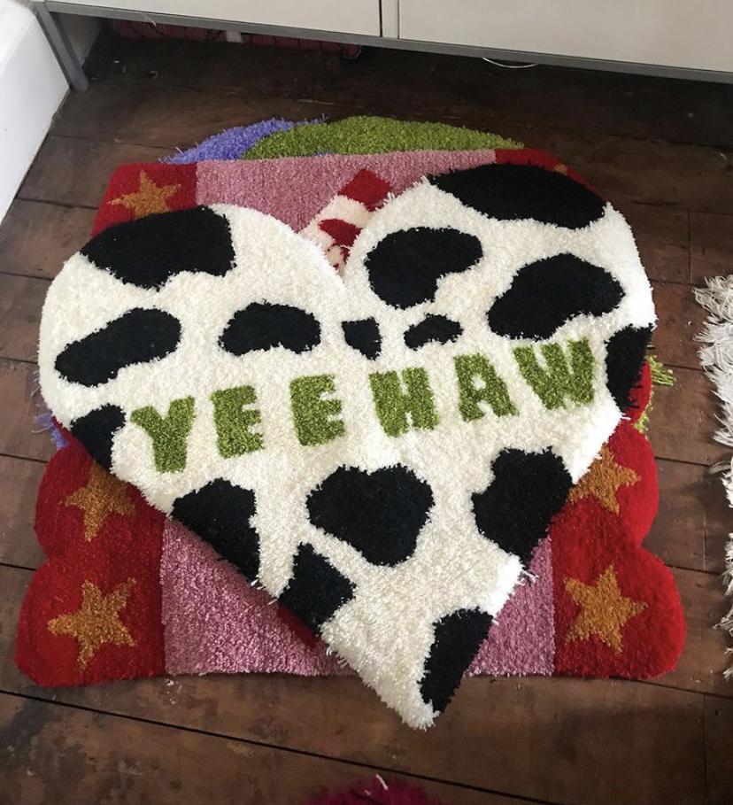 Yeehaw Punch needle rug