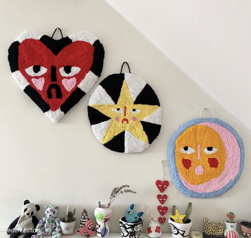 Eden Clifton wall hangings punch needle craft