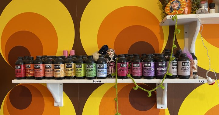 hair dye collection with bright colours