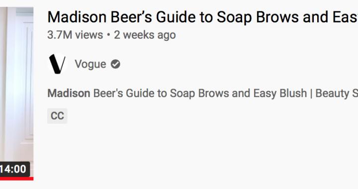 Madison beer vogue make up tutorial
